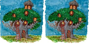 дом на дереве рисунок