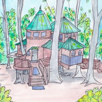дом на дереве рисунок 7