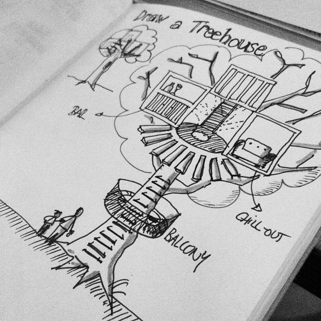 дом на дереве рисунок 8
