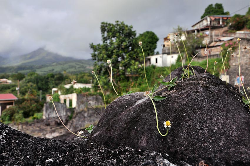 извержение мощного вулкана Мон-Пеле на Мартинике Сен-Пьер 3