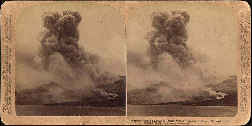 извержение мощного вулкана Мон-Пеле на Мартинике Сен-Пьер 27