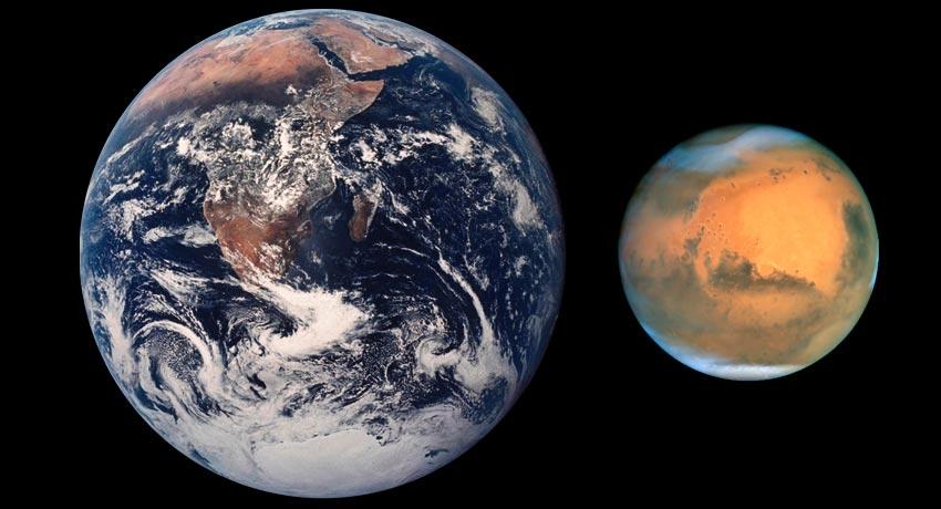 красная планета под названием Марс
