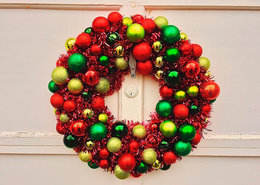 рождественские венки история фото видео своими руками 8
