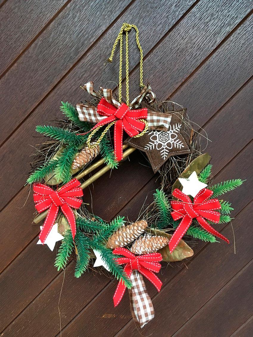 Рождественские венки фото своими руками 10