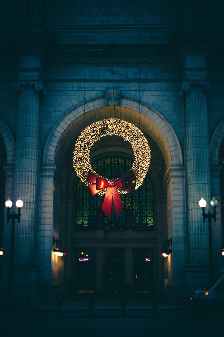 рождественские венки история фото видео своими руками 18