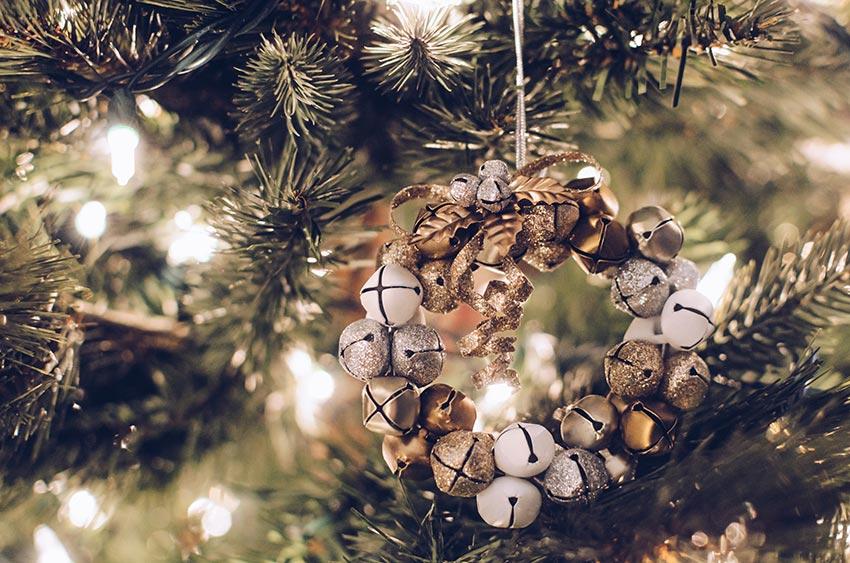 Рождественские венки на елку 22