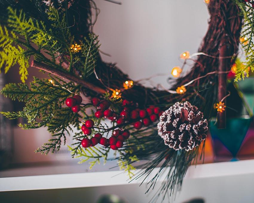 Рождественские венки красивые фото 23