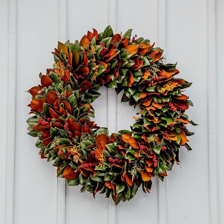 Рождественские венки из природных материалов 26
