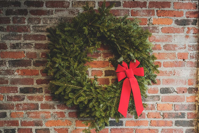 Рождественские венки из чего делают 29