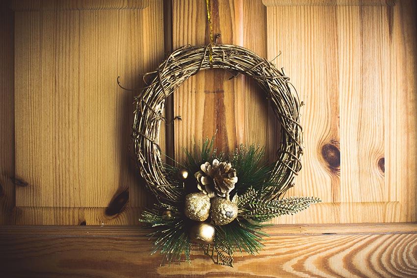 Рождественские венки из лозы 32