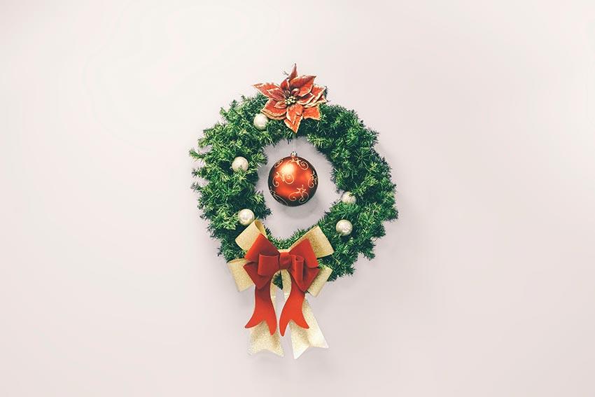 Рождественские венки на дверь 33